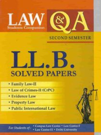 Singhal's LLB Solved Papers (Question and Answers/ QA) for 2nd Semester Delhi University (DU)