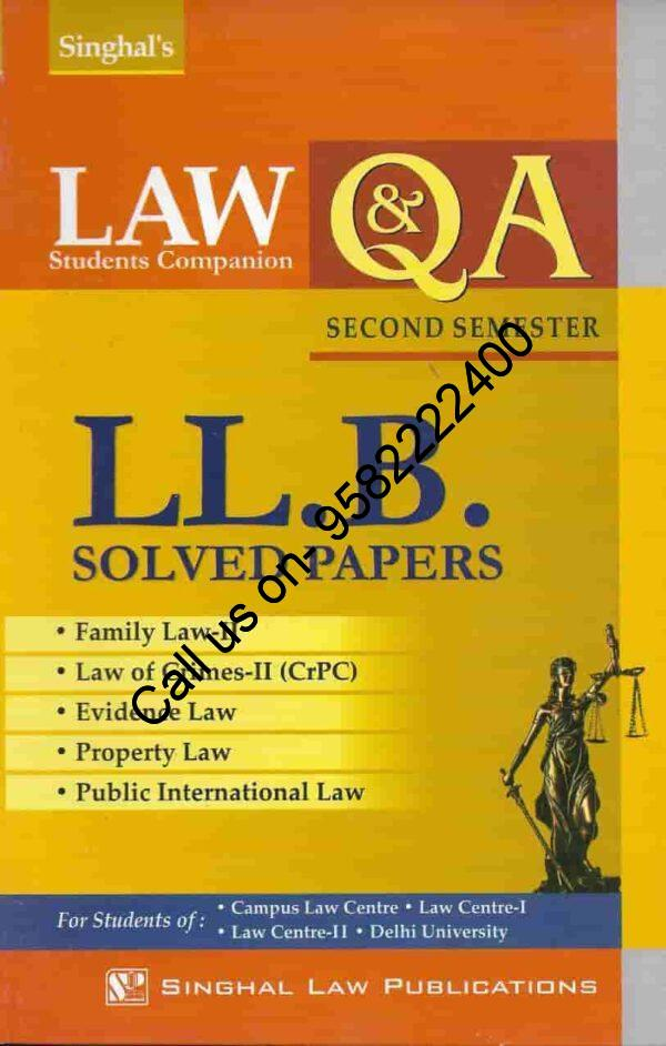 Singhal's LLB Solved Papers for 2nd Semester (Q&A)