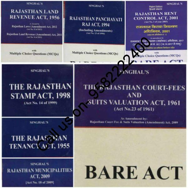 Singhal's Set of 7 Bare Act Books for Rajasthan Judicial Services