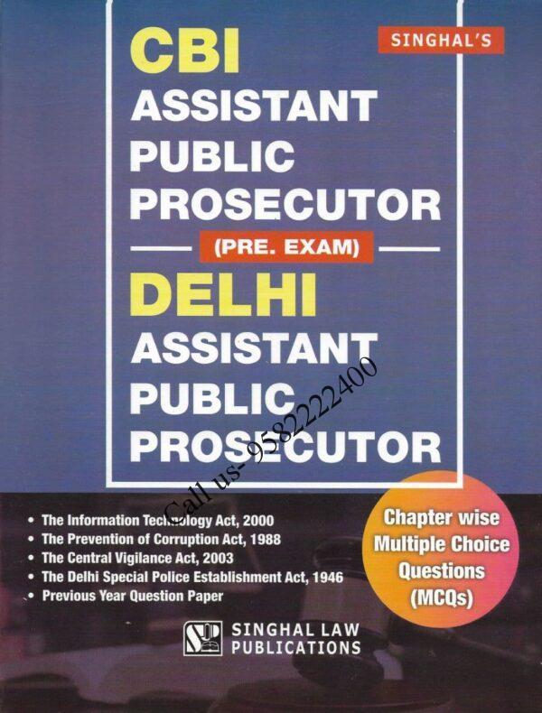 Singhal's CBI and Delhi Assistant Public Prosecutor (APP) Prelims Exam book cover