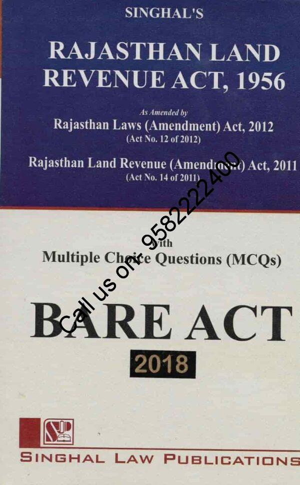 Singhal's Rajasthan Land Revenue Act, 1956 with MCQ