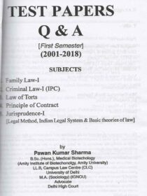 Singhal's DU LLB Solved Papers (Q&A) for 1st Semester by P K Sharma