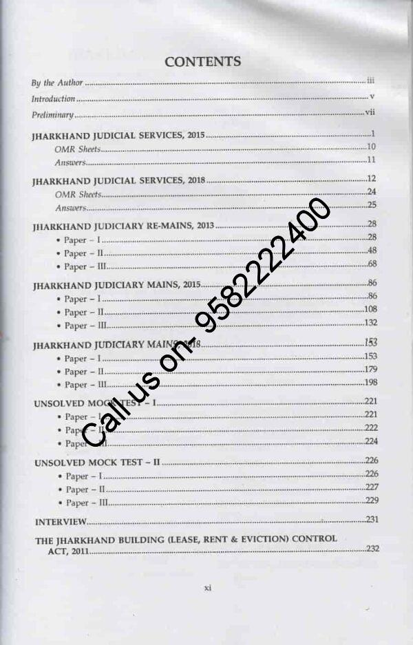 Singhal's Comprehensive Guide to Jharkhand Judicial Services by Smriti Tripathi Content Page 1