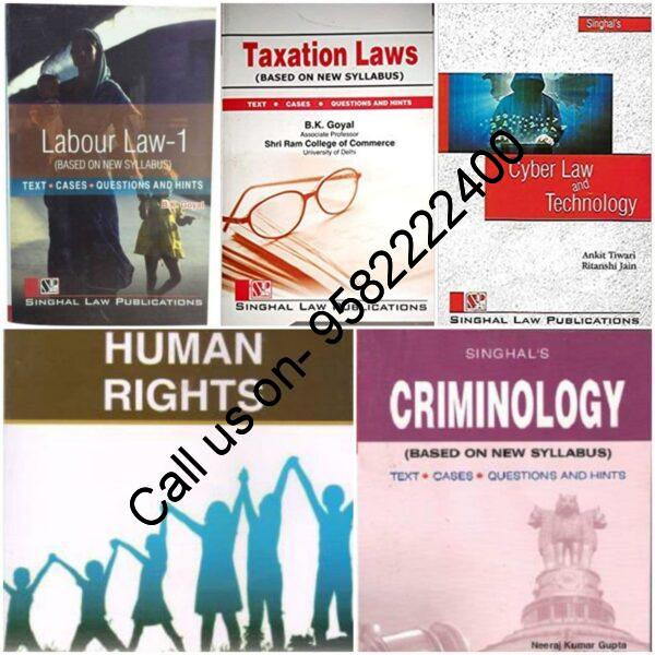 Singhal's Set of 5 Dukkis for 7th Semester GGSIPU (Criminology Optional) Cover page