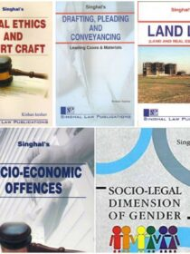Singhal's Set of 5 Dukkis for 9th Semester GGSIPU (Socio - Economic Offence & Socio - Legal Dimension of Gender Optional) cover page