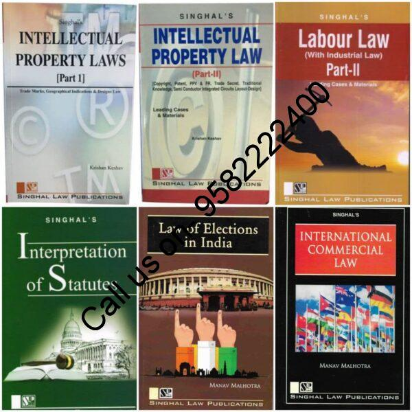 Singhal's Set of 6 Dukkis for 8th Semester GGSIPU (Law of Elections in India and Internation Commercial Law Optional) cover page