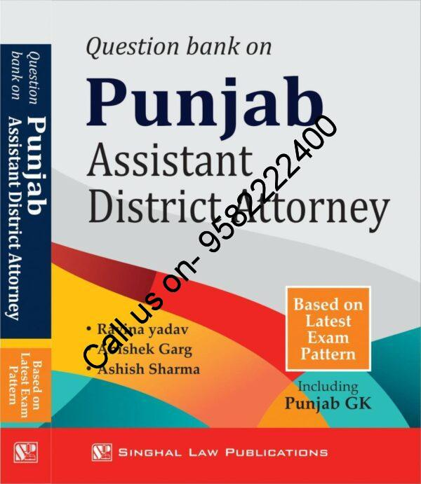 Singhal's Question Bank on Assistant District Attorney Book Cover