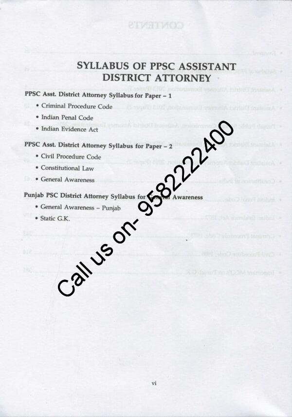 Singhal's Question Bank on Assistant District Attorney Book Syllabus