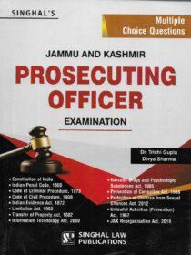 Singhal's MCQs on J&K Prosecuting Officer Exam 2021 Edition
